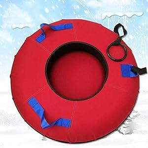 Evin Snow-Tube Schlitten Thick Durable Heavy-Duty-Aufblasbare Schlitten mit Griffen und Zugseil Kinder Erwachsener Winter Ski Supplies 70CM