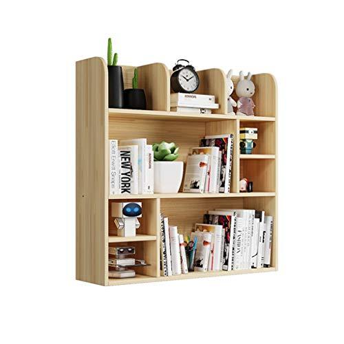 Desktop-Bücherregal Multi-Layer-Bücherregal Einfache Desktop-Holzlagerregal, kann Bücher/Schreibwaren/Kosmetik, Schreibtisch Multifunktionsspeicher zu speichern Einstellbare Arbeitsplatte Bücherre