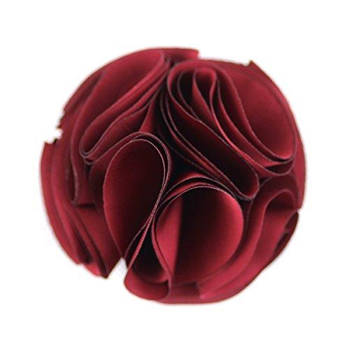 Rote Pin Brosche Blume (Merdia Weinlese-Silk Blume Haar Klammern Und Broschen Pin (Rot))