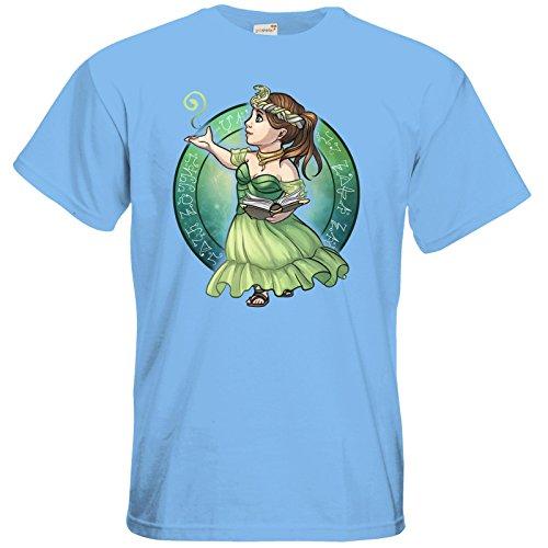 getshirts - Das Schwarze Auge - T-Shirt - Götter - Hesinde - Chibi Sky Blue