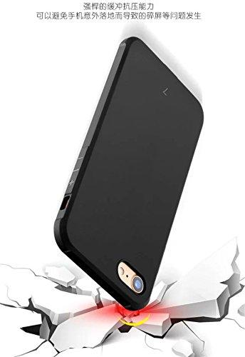 Wkae IPhone 7 Case, Premium-Qualität inklusive inklusive Shockproof Ultra-dünne weiche TPU-Rückseitenabdeckung Für IPhone 7 ( Color : Black , Size : Solid Pattern ) Gray