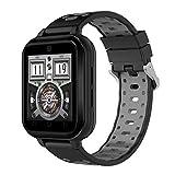 xinxinyu Smart Watch Android 6.0 4G Llamadas telefónicas 1G RAM 8G ROM GPS WiFi IP67 Waterproof Fitness Tracker Reloj de Pulsera Deportivo para Hombre y Mujer, Negro
