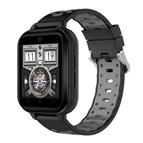 FeiliandaJJ Smartwatch Herren Damen Bluetooth GPS WiFi Wasserdicht Fitness Tracker 4G Telefon-Anruf Smartwatch SIM Karte Slot Schlaferkennung Kompatibel Android Phones,RAM 1GB + 8GB ROM (Schwarz)