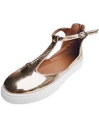 e7a3c116 Zapatillas de Lona para Mujer Otoño 2018 Zapatos de Plano de Dama PAOLIAN  Tira de Tobillo
