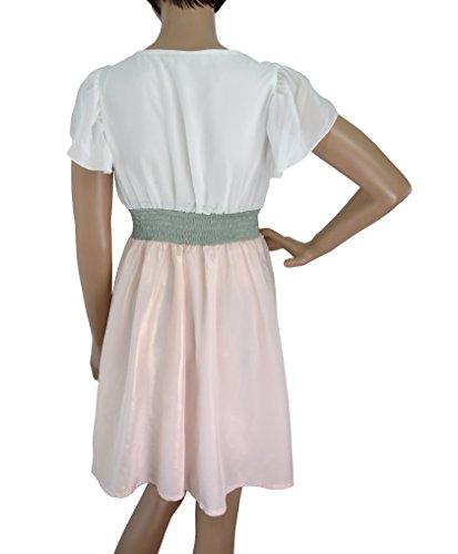 Yumi Angelika Kleid, Prinzessinnen Kleid, Bronze-weiß, Rosa-weiß S - L Rosa/Weiss