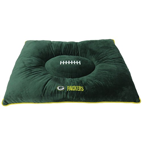 NFL Pet Bed-Green Bay Packers Soft & Cozy Plüsch Kissen.-Fußball Hundebett Cuddle, warm Sport Matratze Bett für Hunde und Katzen