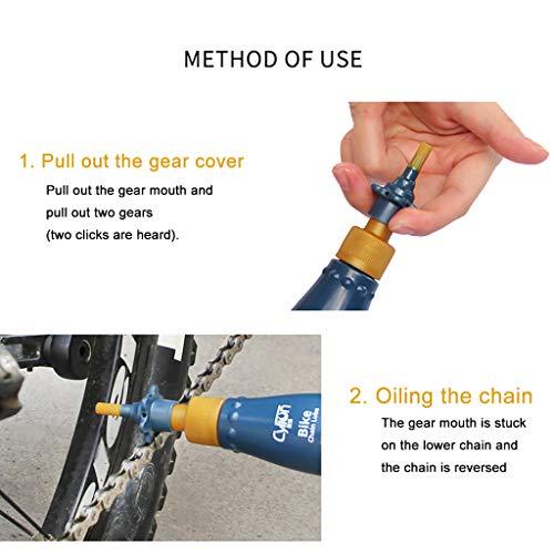 95sCloud 60ml Fahrrad Kettenöl Bike öl Schmierfette, Fahrrad-Schmierfette Schmierung/Abriebfestigkeit/Rost/Staub/Ergonomische Design für Alle Arten von Fahrrad-Ketten
