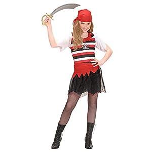 Iden Kinderkostüm Piratengirl - Disfraz de pirata para niño (talla M/140)