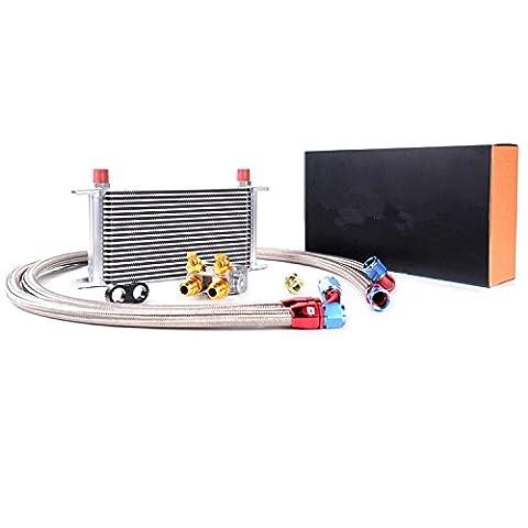 Gowe 19Reihen Thermostat Adapter Motor Racing Ölkühler-Kit für Auto/LKW