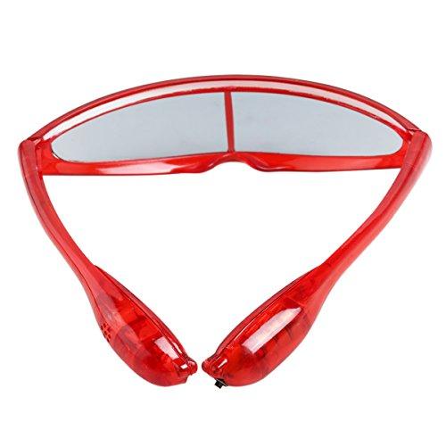 PIXNOR Kinder LED Leuchten Brille Party Brille - Rot