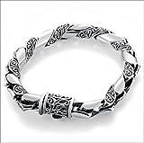Texturizado pulsera 925 plata hombres pulsera de la cadena de la muñeca de plata tailandesa muñeca accesorios de la moda grueso anillo de mano cadena enviar novio cumpleaños presente día del padre