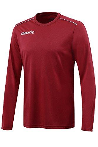 T-Shirt Sportiva Maniche Lunghe Maglietta da Calcio Calcetto Macron Rigel Shirt Granata