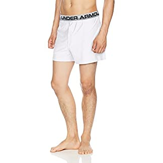 Under Armour Men's Original Series Boxer Shorts, White/Anthracite, Small