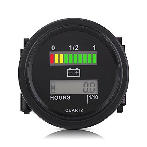 LCD Batterie Kapazitäts Monitor Messgerät Meter,12V/24V/36V/48V/72V LCD Digital Batterie Kapazität Monitor mit Stundenzähler (36-volt-batterie Messgerät)