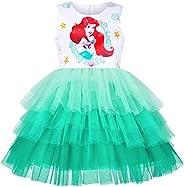 Sunny Fashion Vestito Bambina Compleanno Principessa Increspatura Torta Palloncino Stampare 3-10 Anni