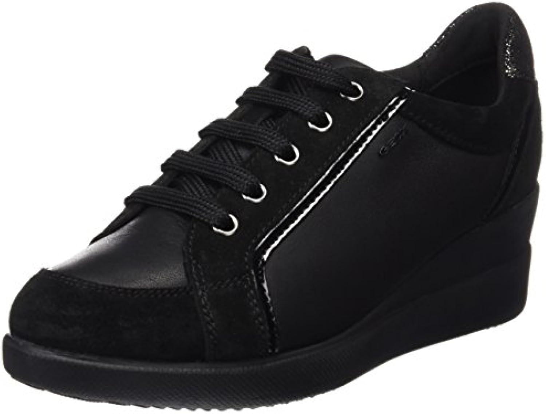 Geox Damen D Stardust A Sneaker 2018 Letztes Modell  Mode Schuhe Billig Online-Verkauf