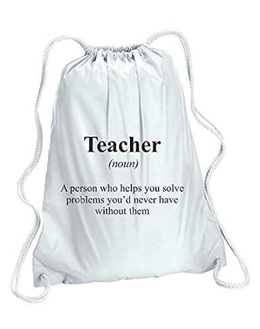 Teacher définition Funny Alternative n'est pas dans le dictionnaire Sac de sport Taille unique blanc
