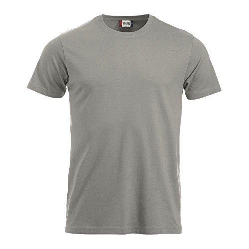 Clique Herren T-Shirts New Classic silber (94)