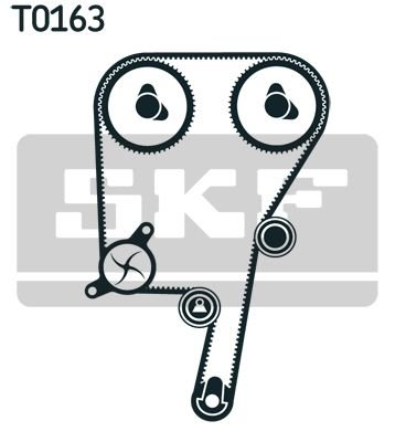 SKF VKMC06040 FORD, Timing Belt Kit incl Water Pump