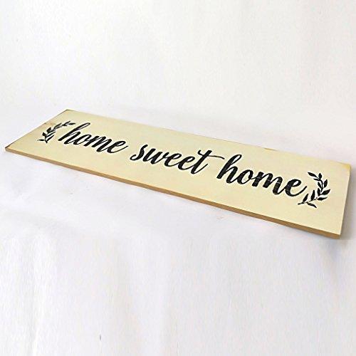 Elenxs Nuovo legno lettere Ornamenti Legno Home