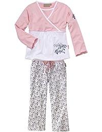 wellyou, Kinder-Schlafanzug, Langarm, Zweiteiler für Mädchen, in rosa, bedruckte Hose