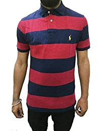 0f33f9b7beb5 Polo Ralph Lauren Men s Custom Fit Half Sleeve Mesh Polo T-Shirt French Navy