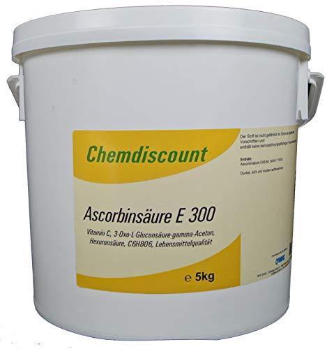 5kg Ascorbinsäure (Vitamin C) in Lebensmittelqualität E300, versandkostenfrei -