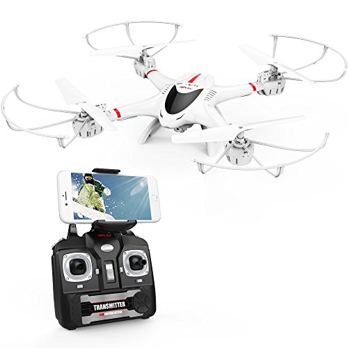 MJX X400C Wifi FPV Drone with Camera Headless Further a be up for Quadcopter with 3D Ballot Aim Compatible with 3D VR Headset