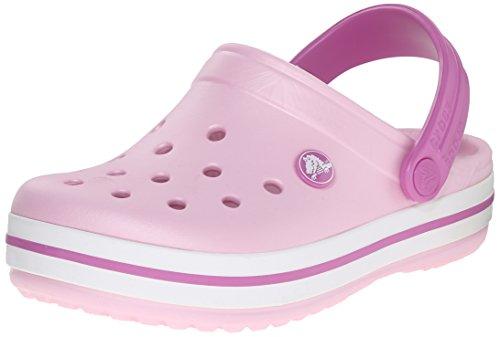 Crocs Crocband Kids, Unisex-Kinder Clogs, Rosa (Ballerina Pink/Wild Orchid), 27/29 EU