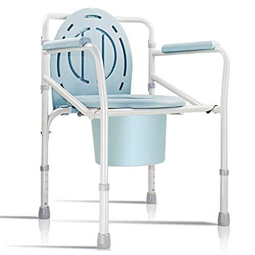 OHHG Medizinischer Nachtkommode-Stuhl für Senioren, 3 in 1 Klappstahl über Toilettenstuhl für Erwachsenen, einfach zusammenzubauen