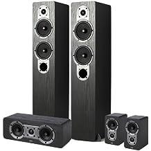 Jamo S426 HCS - Sistema Home cinéma 5.0 (5 altavoces), color negro