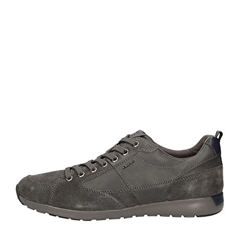 Geox U54F8D022ME Sneakers Uomo Scamosciato Dark Grey Dark Grey 44