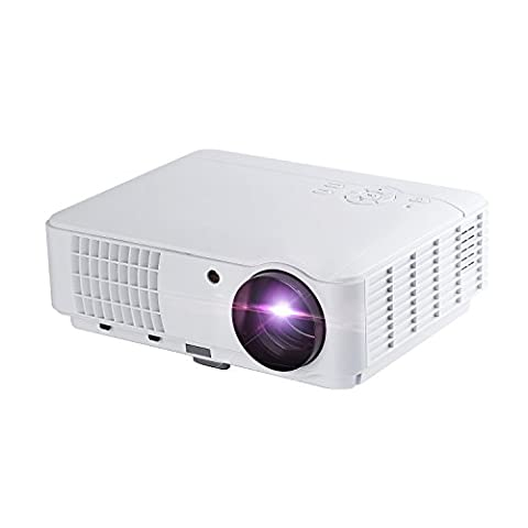 Vidéoprojecteur Projecteur 2500 Lumens LESHP LED HD Portable LCD HDMI Multimédia Contraste(1300:1) Soutien VGA, HDMI, USB, AV, ATV, DTV 1080P 1280x800 50000hours pour cinéma maison Jeux Vidéo TV Movie Douille EU
