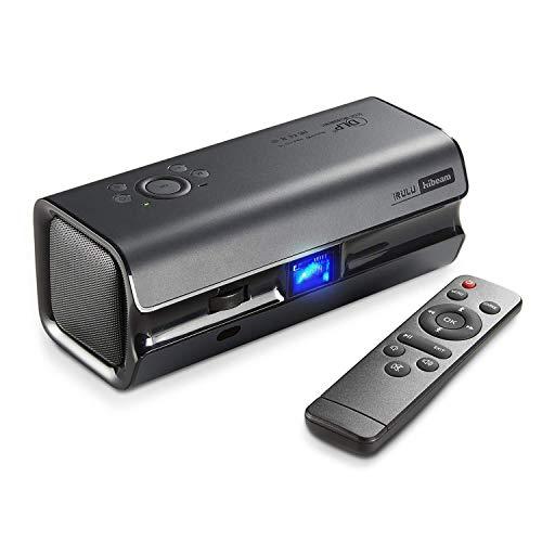 iRULU Mini proiettore DLP per Home Cinema, HiBeam H6 Full HD Mini proiettore Portatile per casa 1080P videoproiettore Compatibile con HDMI VGA per TV