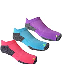 More Mile Ladies (3 Pair Pack) Challenger Coolmax Running Socks
