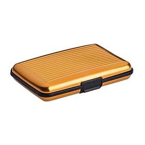 2-TECH Deluxe Kreditkarten Etui Alu Case Wallet Gold