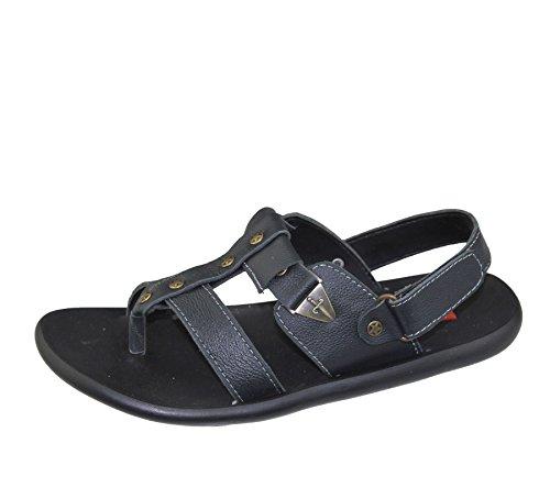 Herren Sandalen Casual Beach Fashion Walking Klettverschluss flach Komfort Schuhe Slipper Größe Schwarz