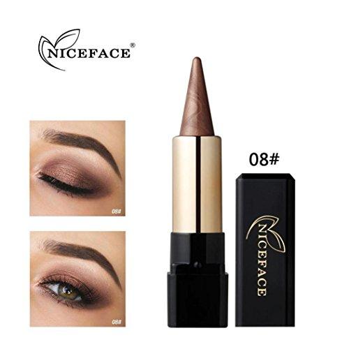 Fards à paupières, Sansee Beauté Eyeliner imperméable à l'eau Crème Eye Liner Pen Crayon Eye Shadow Gel Maquillage (#08)