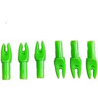 36 Pcs Caza Tiro con arco Flecha Nock para Diámetro Interior 6.0 mm (verde)