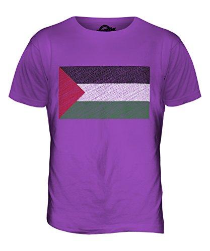 CandyMix Palestine Kritzelte Flagge Herren T Shirt Violett