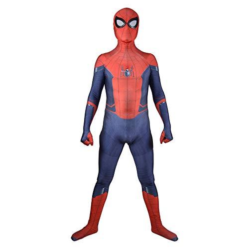 YIWANGO Erwachsener Kind Spiderman Kostüm 3D Digitaldruck Halloween Party Cosplay Kostüm,Adult-XS