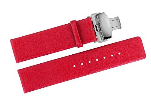 vachette-souple-bracelets-de-montres-en-cuir-rouge-18mm-de-luxe-lisse-sans-motif-avec-fermoir-papill