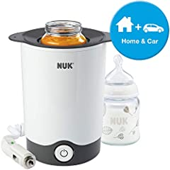 Idea Regalo - Nuk 10256404 Scaldabiberon Thermo Express Plus per Scaldare le Pappe a Vapore, Casa/Auto