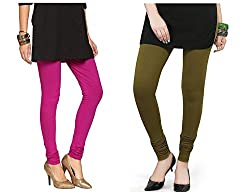 Roop Trading Co girls cotton material, churidar full length legging style, mehni-Magenta colour size available- XL,XXL,XXL