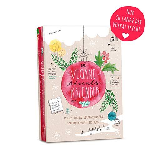 Der vegane Adventskalender, mit 24 veganen Süßigkeiten von Fruchtgummi, Brause, Karamell, Bonbons bis Keks - Adventskalender vegan 2018