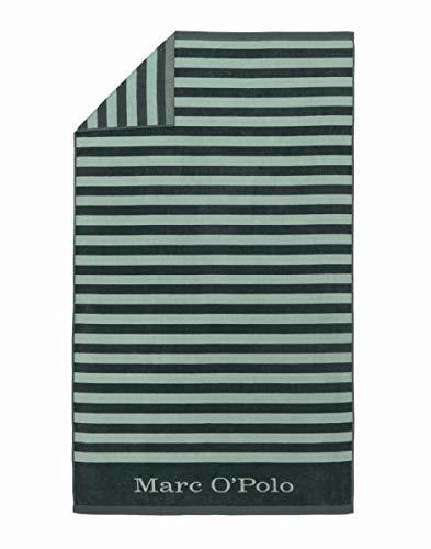 Marc O'Polo Strandlaken Saburo Grün Strandtuch Badetuch Streifen 100 cm x 180 cm