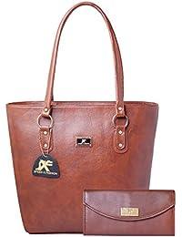 a06ae1655103 Speed X Fashion Women s Handbag And Girl s Handbag And Wallet Clutch  Combo(Brown)