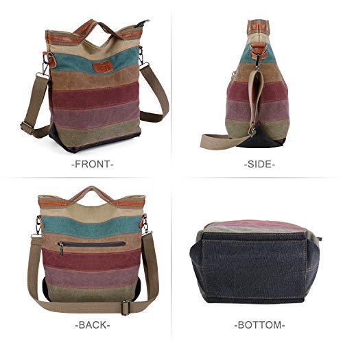 2014 Fashion Damen Mädchen Handtasche Umhängetasche Schultasche Alltagstasche Universal Leinwand Multifunktion mit Schulterträger - 5