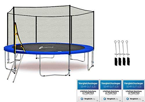 LifeStyle ProAktiv LS-T370-PA12 (BA) Trampolino da giardino 370cm - incl. Rete di sicurezza 130g/m² - New