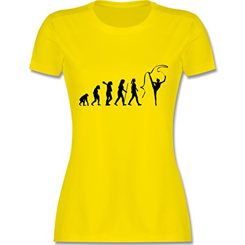 Evolution - Rhythmische Sportgymnastik Evolution - tailliertes Premium T-Shirt mit Rundhalsausschnitt für Damen Lemon Gelb